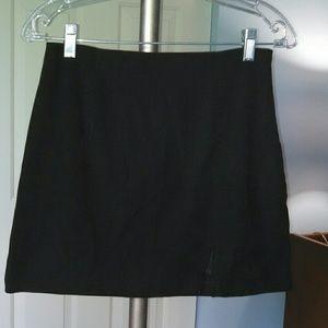 Vintage 90s In Moda Black Mini Skirt